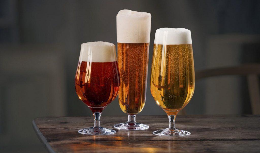 Orrefors Lager, Pilsner & Taster Beer Glass Set