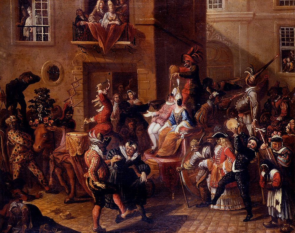 carnival in 17th century, masquerade ball history