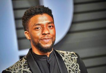 Chadwick Boseman at the Vanity Fair Oscar Party