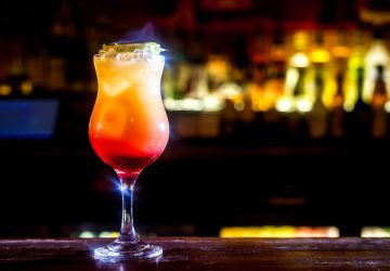 Zombie cocktail on fire