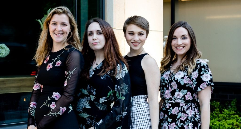 Elite 6 Dinners Board of Directors (from left): Hannah Herbst, Jenny Delaney, Keah Gonzalez, and Amanda Philio