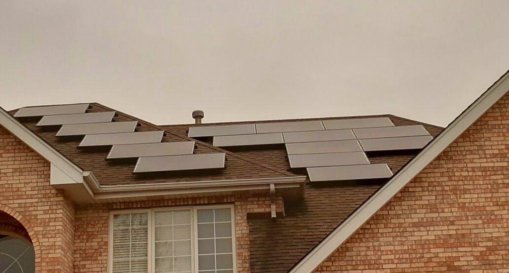 Solar panel installation on home. Photo courtesy of Headline Solar