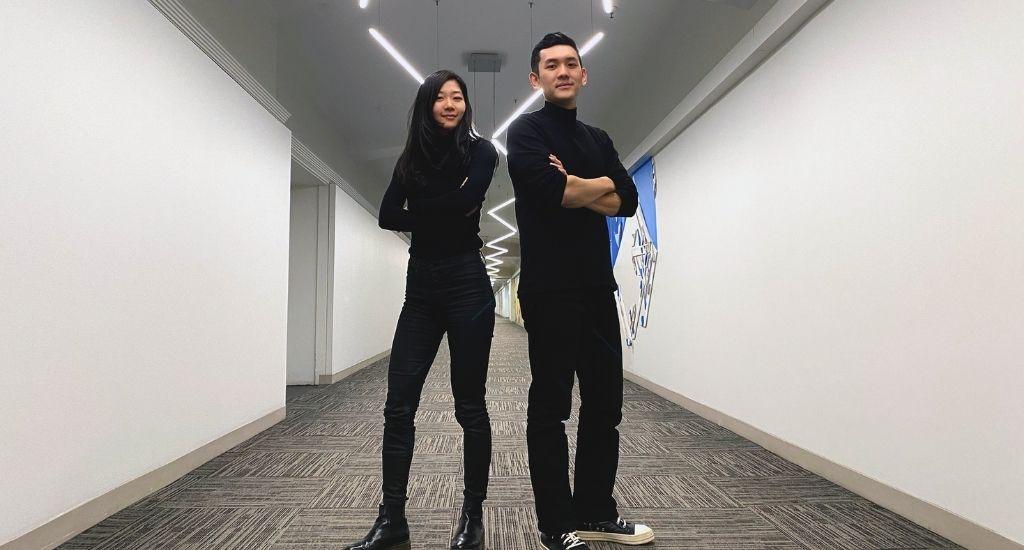 Yaxi Yang and Eddie Yang cofounders of Visual Feeder