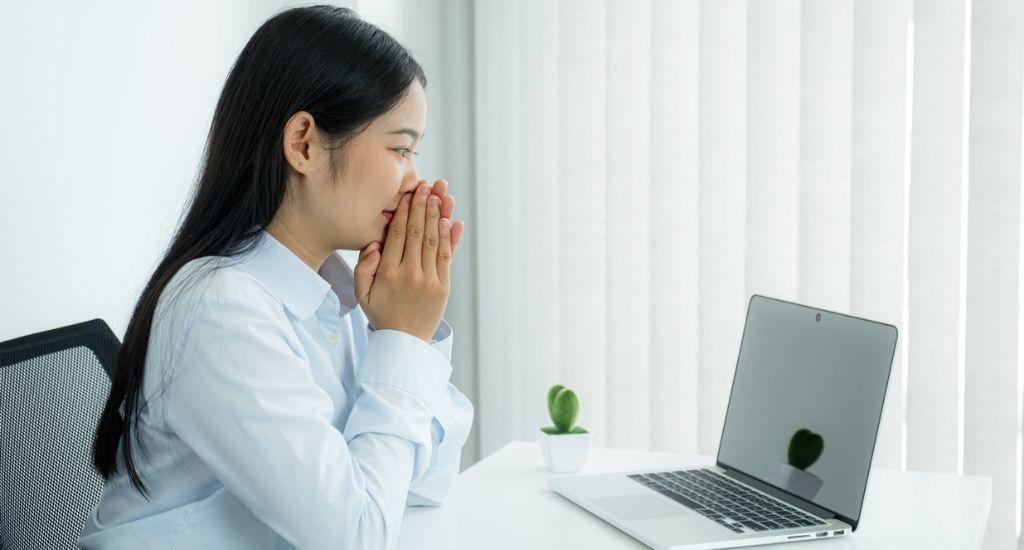 Stylish entrepreneur working remotely