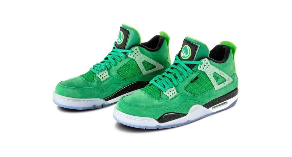Mark Wahlberg's Air Jordan IV sneakers