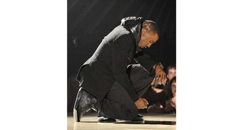 West performing at the 2008 Grammys in what is now the most expensive sneaker in the world.