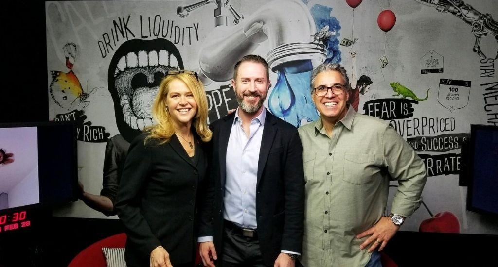 Kristi Ross (left), Kyle Lintner (center), and Tony Battista (right) on Tastytrade